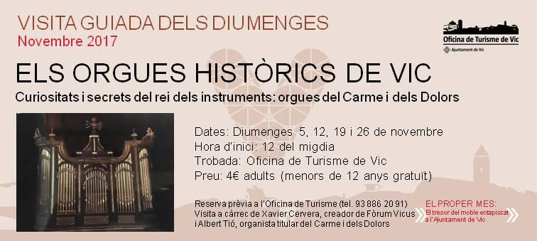 Visita Orgues històrics