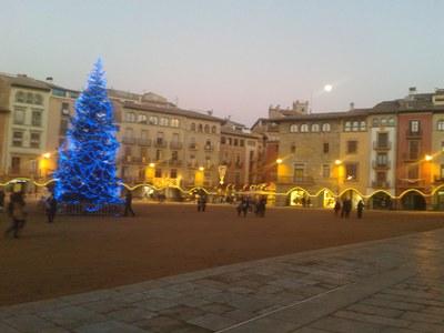 arbre de Nadal a la plaça
