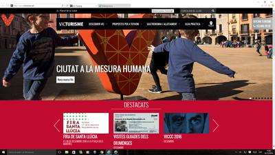 pantalla d'inici web
